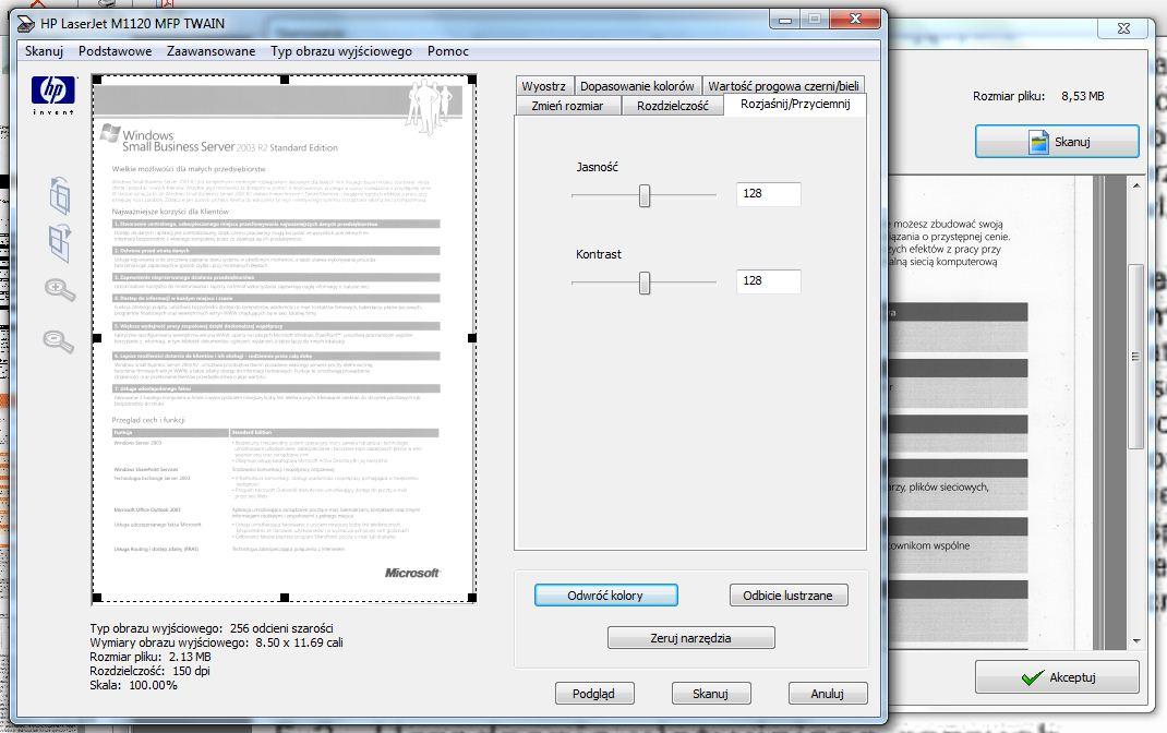 Skanowanie form aplikacja producenta form